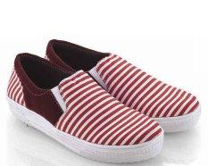... Everflow SD08 Sepatu Slip On Sneaker Wanita Canvas Tpr Gaul Dan Keren BlueIDR176300 Rp 176 300