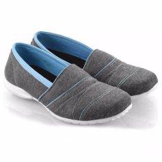 Cuci Gudang Sepatu Flat Casual Slip On Wanita Everflow Denim Grey Comb