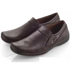 Spesifikasi Everflow Sepatu Formal Pantofel Kerja Kantor Kulit Asli Pria Brown Everflow Terbaru