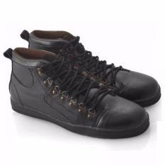 Harga Everflow Sepatu Sneaker High Cut Pria Synthetic Black Origin