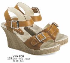 Everflow VNK 800 Sepatu Wedges Casual Wanita-Sintetis-Fiber-Hak 8 Cm-Modis Dan Lucu(Tan)