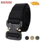 Evertoner Tactical Belt Gaya Militer Anyaman Riggers Web Belt Dengan Pelepas Cepat Tugas Berat Metal Buckle Terbaru