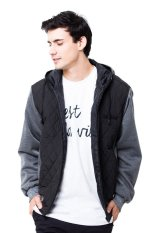 evio Quilted Bomber Jacket 129 - Hitam