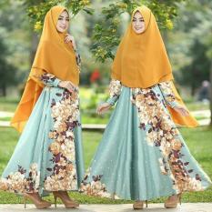 EVRYN MAXI - Baju Murah Gamis Set Syari Dress Wanita Muslimah Terbaru Grosir Busana Pesta Maxmara [4 WARNA]