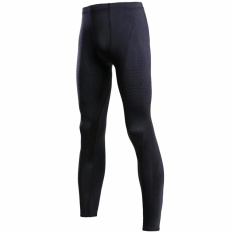 Promo Evs Men Compression Tight Pants With Mcs Black