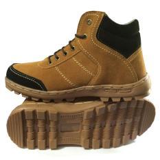 EWN Sepatu Boots / Sepatu Hiking / Sepatu Touring / Sepatu Casual Pria / Sepatu Biker / Sepatu Safety- Hitam Mocca