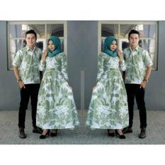 Exclusive  Couple Batik Gamis Simple Elegan