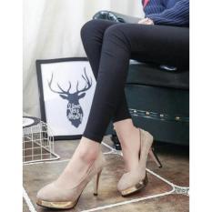 Harga Exclusive Pumps Heels Monroe N*D* Cream Sepatu High Heels Wanita High Hill