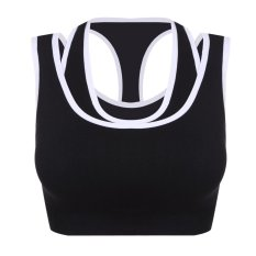 Latihan Fitness Women Sport Padded Bra Pesta O-leher Tak Berlengan Tank Yoga Top (Multicolor)-Intl