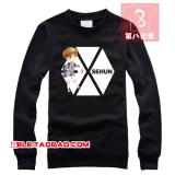 Berapa Harga Exo Kaos Sweater Kartun Model Sama Sekeliling Lengan Panjang Hitam Di Tiongkok