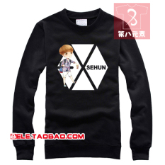 Harga Exo Kaos Sweater Kartun Model Sama Sekeliling Lengan Panjang Hitam Di Tiongkok