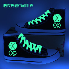 Promo Exo Korea Fashion Style Sol Tebal Pergelangan Kaki Tinggi Wanita Sepatu Wedges Sepatu Exo Pergelangan Kaki Tinggi Bagian Tipis Sepatu Wanita Sepatu Sport Sepatu Sneakers Wanita Murah