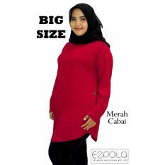 Beli Ezpata Atasan Blouse Jumbo Big Size Polos Wanita Bahan Kaos Rayon Xxl 4L Merah Cabai