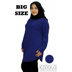 Beli Ezpata Atasan Blouse Jumbo Big Size Polos Wanita Bahan Kaos Rayon Xxl 4L Navy Murah Di Jawa Timur