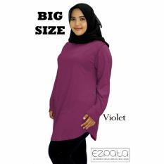 Ezpata Atasan Blouse Jumbo / Big Size Polos Wanita Bahan Kaos Rayon XXL - 4L - Violet
