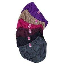 Ezpata Golden Nick - 6 Pcs Celana Dalam Wanita Warna Gelap