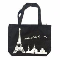 EZY Tote Bag Paris - Hitam