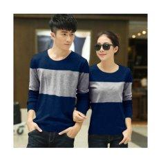 F Fashion Baju Couple Two Tone - Navy / Kaos Oblong / Kaos Pasangan / Kaos Couple / Pakaian Kembar / Baju Muslim Wanita / Baju Muslim Pria / Couple