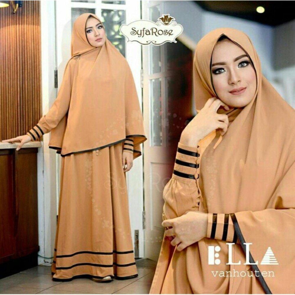 Harga Atasan Wanita Ellena Peplum Blouse Tunik Baju Muslim Blus Kemeja Fashionable F Fashion Syari Najwa Coklat Susu Dress Muslimah Hijab
