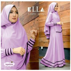 F Fashion Baju Muslim Gamis Syari Najwa - Lavender / Dress Muslimah / Hijab Muslim / Gamis Syari / Baju Muslim / Fashion Muslim / Dress Muslim / Fashion Maxi / Setelan Muslim / Atasan Muslimah