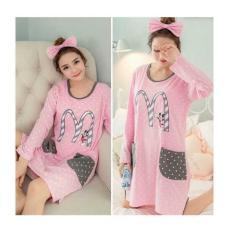 F Fashion Daster Wanita Pink Mimi / Piyama Wanita / Baju Tidur Wanita / Baju Santai / Piyama Dewasa / Piyama Karakter