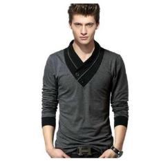 F Fashion Kaos Pria Minho - Abu / Baju Pria / Kemeja Pria / Baju Santai Pria / Baju Muslim Pria / Kemeja Formal / Atasan Pria