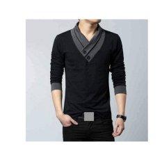 F Fashion Kaos Pria Minho - Hitam / Baju Pria / Kemeja Pria / Baju Santai Pria / Baju Muslim Pria / Kemeja Formal / Atasan Pria