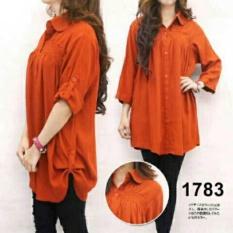 F Fashion Kemeja Wanita Jumbo Size - Bata / Baju Jumbo / Kemeja Jumbo / Big Size / Baju Jumbo Wanita / Baju Muslim Jumbo / Baju Ukuran Besar / XL / XXL / Baju Muslim / Kemeja Kerja / Kemeja Katun