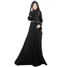 F02 Rompi Wanita Dress Malaysia Indonesia Gaya Etnik Tradisional (Hitam)-Intl