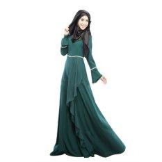 F02 Rompi Wanita Dress Malaysia Indonesia Gaya Etnik Tradisional Dress (Hijau)-Intl