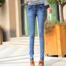 Pabrik Direct Spring 2016 Baru Wanita Celana Jeans Slim Celana Pensil Kaki