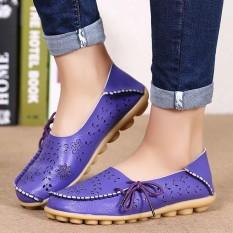 Pabrik Grosir Sandal Musim Panas Sepatu Lubang Datar Kulit Kasual Sepatu Anak Perempuan Berusia Doug Mama Sepatu Kode Ungu- internasional
