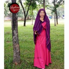 Fahira Set By @Shalirasyar'i gamis syar'i +jilbab + cadar tali
