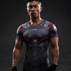 Model Falcon T Shirt Captain America Kompresi Shirt 3D Dicetak T Kemeja Pria Avengers Lengan Bang Pendek Pengeringan Cepat Kebugaran Kain Tops Terbaru