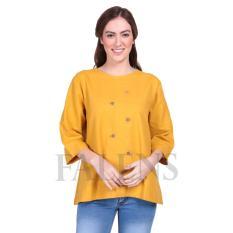 Falens Agnes Top Atasan Wanita Baju Blouse Cewek Fashion Bagus Cantik Bahan Adem – Yellow Kuning