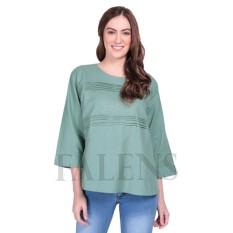 Falens  Paula Top Atasan Wanita Baju Blouse Cewek Fashion Bagus Cantik Bahan Adem – Green Hijau