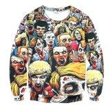 Jatuh Kasual 3D Zombie Cetak T Shirt Lengan Panjang Intl Original