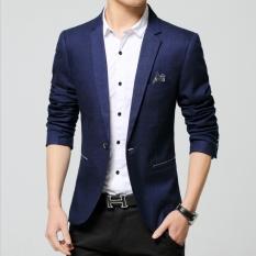 Famo Blazer Jaket - Blazer Casual Style Ocean Blue FM - 53