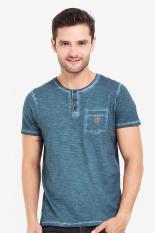 FAMO Pakaian Atasan Kasual Kaos T-Shirt Pria Men Tshirt Green Diskon discount murah bazaar baju celana fashion brand branded