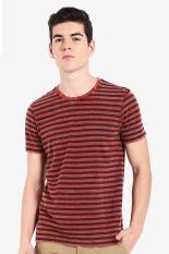 FAMO Pakaian Atasan Kasual Kaos T-Shirt Pria Men Tshirt Red Diskon discount murah bazaar baju celana fashion brand branded