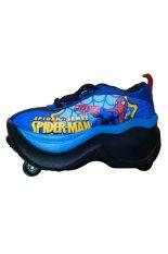 Review Fancy Kids Sepatu Spiderman 4 Roda Biru Di Dki Jakarta