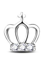 Fancyqube 1 Pair Putri Mahkota 925 Sterling Z Rhinestone Telinga Stud Earrings Jewelrysilver