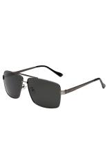 Penawaran Istimewa Fancyqube Hot Selling Fashionable Dan Klasik Retro Men S Polarized Sunglasses Dengan Bingkai Hitam 4 Warna Gs 103 Dark Grey Terbaru