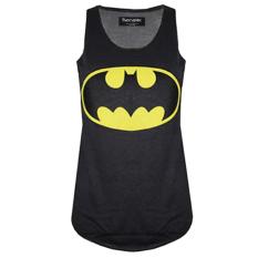 Spesifikasi Fancyqube Batman Superman Super Hero Wanita Kemeja Fashion Tanpa Lengan Rompi Olahraga Hitam Fancyqube