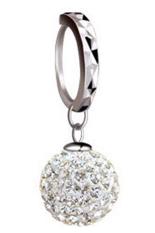 1 pasang anting kristal Fancyqube untuk Wanita dengan 925 Sterling berawarna silver berlapis 10 mm