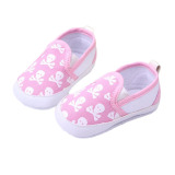Review Pada Fancyqube Fashion Baby Boys Girls Toddler Non Slip Soft Sole Skull Print Pattern Shoes Sneakers Pink