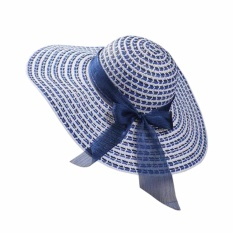 Fancyqube Jual Hot Fashion 2017 Baru Fashion Summer Beach Hat Blue-Intl