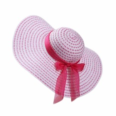 Fancyqube Jual Hot Fashion 2017 Baru Fashion Summer Beach Hat Fuchsia-Intl
