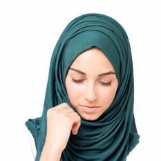 Fancyqube Hot Sale Fashion Muslim Islam Wanita Jilbab Fashion Turki Turban Wraps Jersey Syal Selendang Wanita H02-Intl
