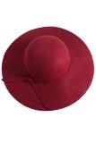 Review Baru Musim Gugur Dan Musim Dingin Retro Inggris Imitasi Wol Flanel Perempuan Leisure Fashion Joker Hat Burgundia Intl Fancyqube Terbaru